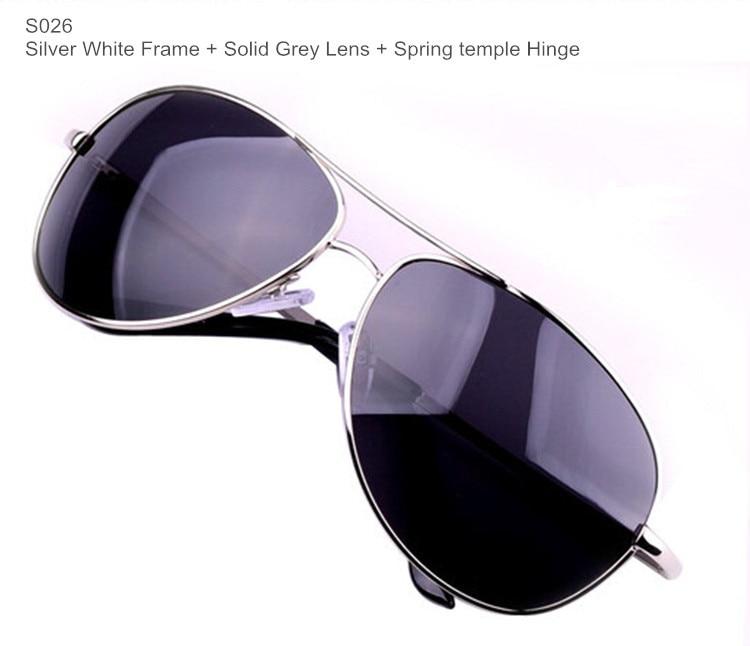 Поляризационные мужские солнцезащитные очки, Брендовые очки, мужские очки из пушечного металла, классические металлические солнцезащитные очки для мужчин - Цвет линз: BrandSunglasses S026