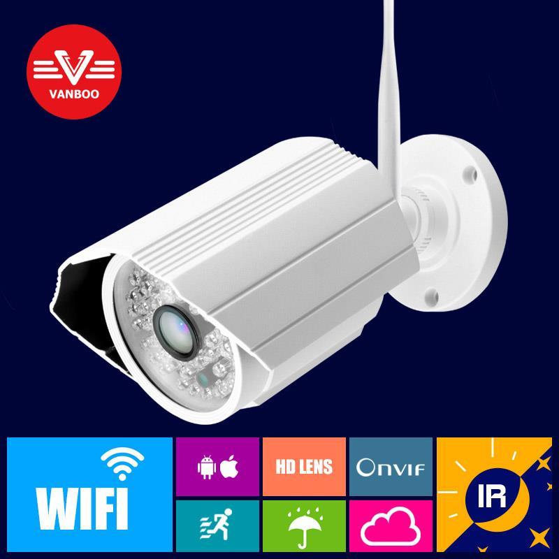 Onvif IP font b camera b font WIFI Megapixel 1 0MP 1280 720p HD Outdoor Wireless