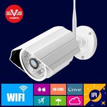 Onvif cámara IP WIFI 1.0MP Megapixel 1280*720 p HD CCTV Seguridad Inalámbrica al aire libre Cámara IP IR Bullet Infrarrojos P2P Kamera