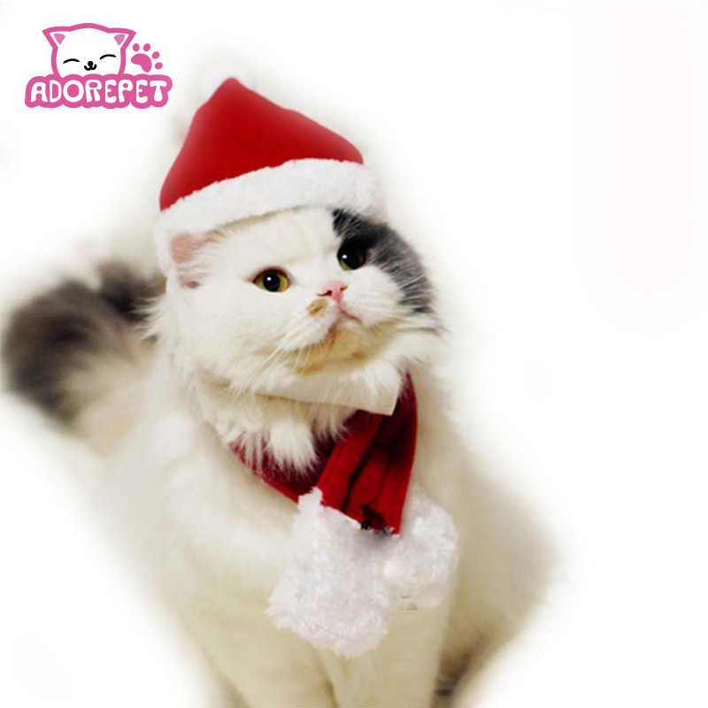 Christmas Hats For Dogs.Winter Pet Cat Dog Christmas Hats Cape Scarf Suit Warm Winter Hat For Dog Pet Santa Claus Costume Hat Grooming Accessories