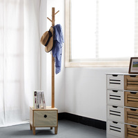 Cabinet Solid Wood Living Room Coat Rack Display Stands Scarves Hats Bags Clothes Shelf