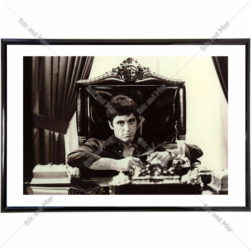Scarface meeting vintage retro posters and prints home decoration scarface meeting vintage retro posters and prints home decoration canvas painting modern wall art picture silk fabric in painting calligraphy from home jeuxipadfo Images