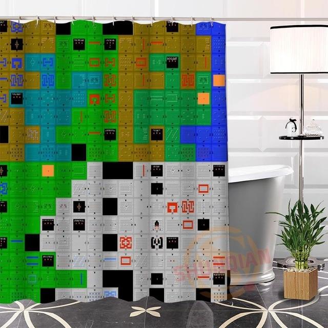 Custom The Legend of Zelda Map Shower Curtain Waterproof Bathroom ...
