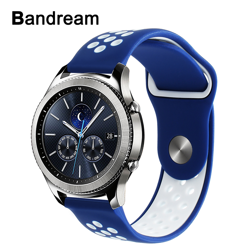 Silicone Rubber Watchband 22mm for Samsung Gear S3 Classic Frontier Huawei Watch 2 Classic Quick Release Band Sports Wrist Strap 22mm sports silicone strap for samsung gear s3 frontier band for gear s3 classic rubber watchband replacement wristband