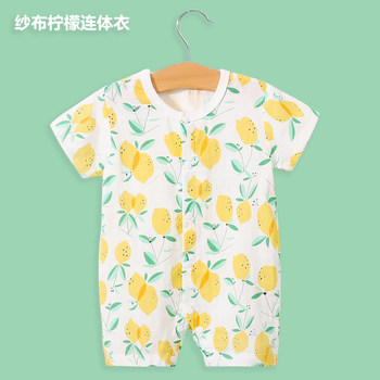 YiErYing Baby Rompers Summer Boys Girls Clothing Roupas Bebes Cute Printing Newborn Baby Clothes Baby Jumpsuits Infant Clothing yierying baby clothing autumn and winter baby rompers long sleeves cotton hooded infant clothes cartoon newborn jumpsuits