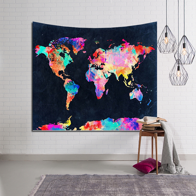 Thin world map colorful style yoga mat bedding decor tapestry thin world map colorful style yoga mat bedding decor tapestry printed beach thin sunbath multifuctional gumiabroncs Gallery