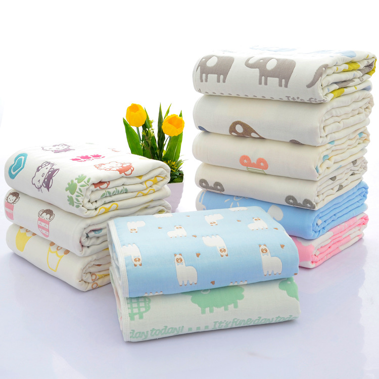 Muslin Cotton Baby Swaddles for Newborn Baby Blankets Infant Children 6 layers Gauze Bath Towel Bedding Quilt Baby Wrap Envelope 6 layers muslin cotton baby blankets swaddles newborn wrap gauze crown children blankets infant bath towel size 150 200cm