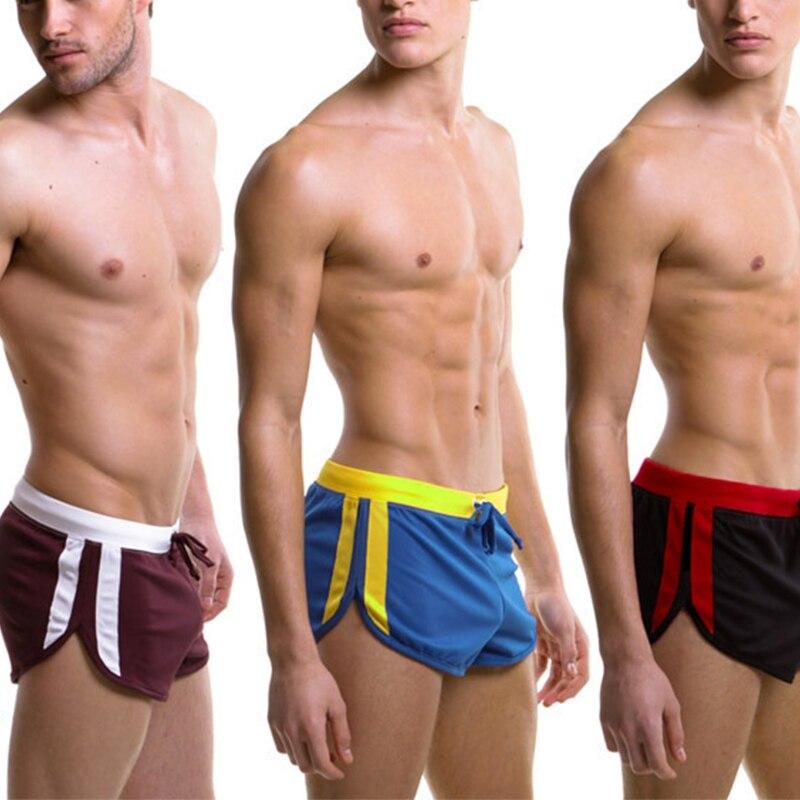 New Sexy Swimwear Men Trunks Quick Dry Beach Board Shorts Beachwear Mesh Swimsuit Men's Boardshorts Breathable Gym Short Pants