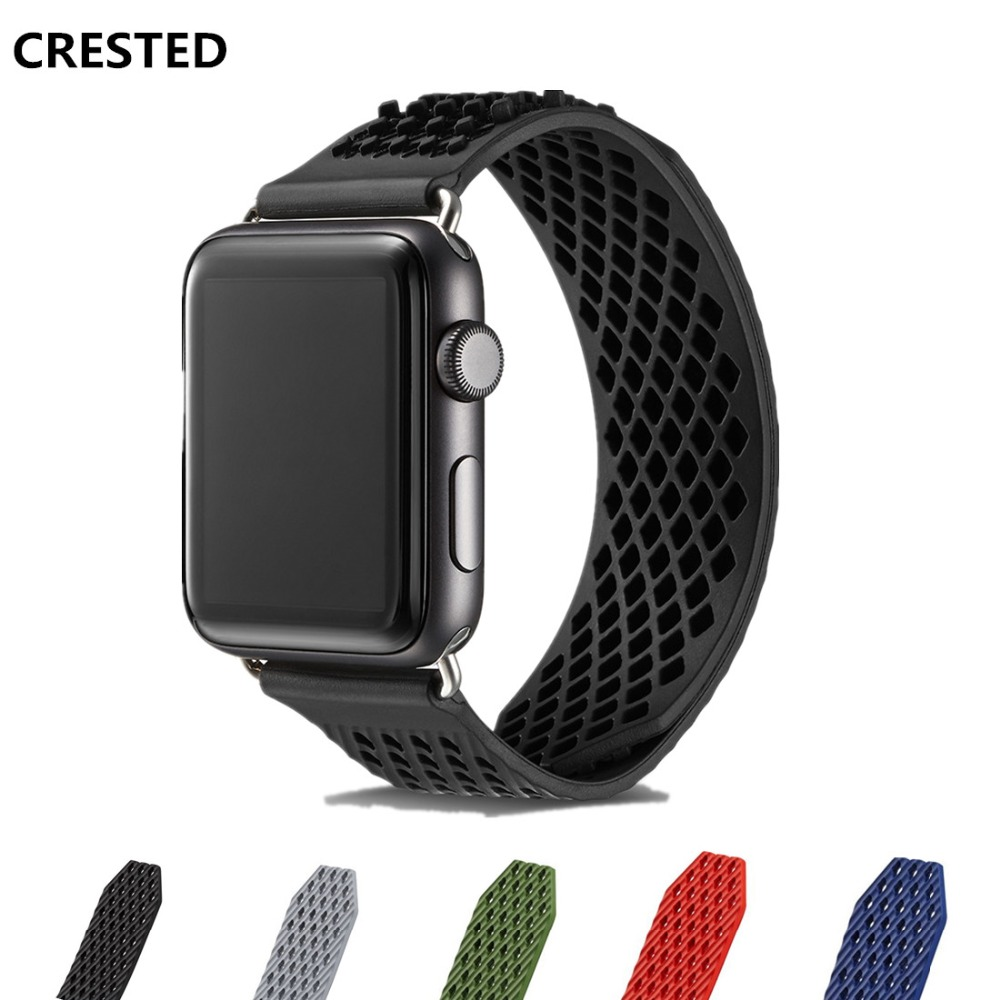 Silicone Sport band For Apple Watch strap 4 44mm 40mm 42mm/38mm iwatch bands 4 3 2 1 weave rubbers wristbands bracelet belt yolovie sport strap for apple watch band 38mm 40mm 42mm 44mm silicone bracelet belt replacement wrist bands for iwatch 4 3 2 1
