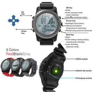 Image 2 - Makibes G07 GPS Mens Multisport Smart Watch Bluetooth IP68 Waterproof Snorkeling Dynamic Heart Rate GPS Tracker Smartwatch
