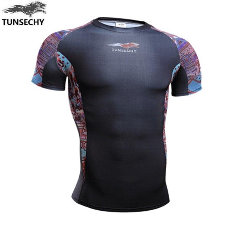 fashion Brand tights short sleeve T-shirt Men's wear round collar short sleeve 3D digital printing T-shirt Wholesale and retail