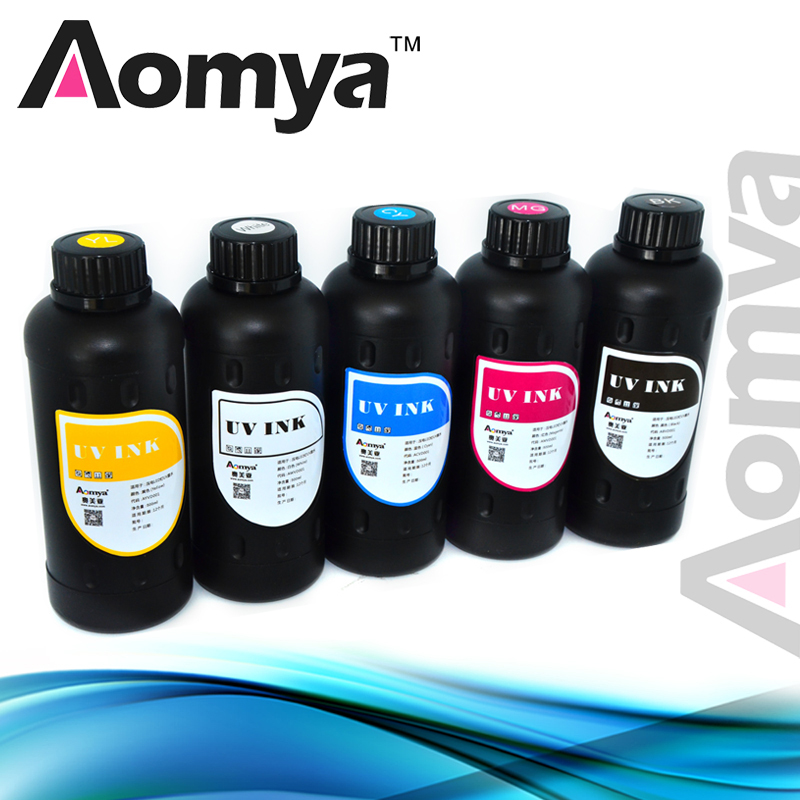 Fast Curing Led UV Ink For Epson R1800 R1900 R2000 Modified UV flatbed printer on Wood/acrylic/glass/Phone cases/metal 500ml*6C  цены