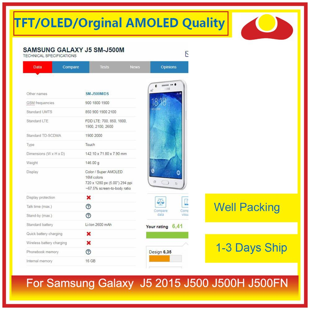 "Image 3 - ORIGINAL 5.0"" For Samsung Galaxy J5 2015 J500 J500H J500FN J500F LCD Display With Touch Screen Digitizer Panel Pantalla Complete-in Mobile Phone LCD Screens from Cellphones & Telecommunications"