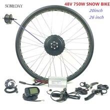 EINES TAGES Elektrische Fahrrad conversion kit mit LCD5 display 20 zoll 26 zoll 48V 750W E-BIKE snwo bike hinten drehen Bürstenlosen Getriebe Mot
