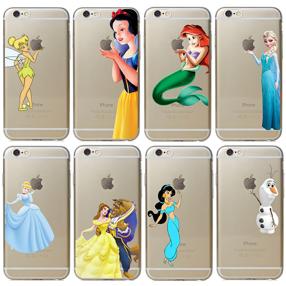 competitive price 6718c 3edfb US $1.98 |For Apple iPhone 6 6s Case Transparent Snow White TinkerBell  Princess Hand Grasp The Logo Cell Phone Cases Cover on Aliexpress.com |  Alibaba ...