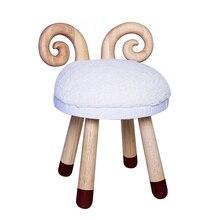 Нордический твердый деревянный детский табурет, Диванный табурет, табурет с оленем, мультяшная креативная детская обувь, табурет