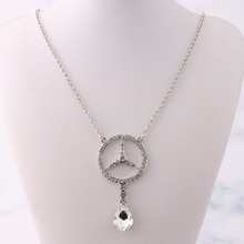 цена на Bohemian Necklace for Women Zinc Alloy Rhinestone Pendant Necklace Fashion Long Necklace 2019 New Necklace Jewelry Collier