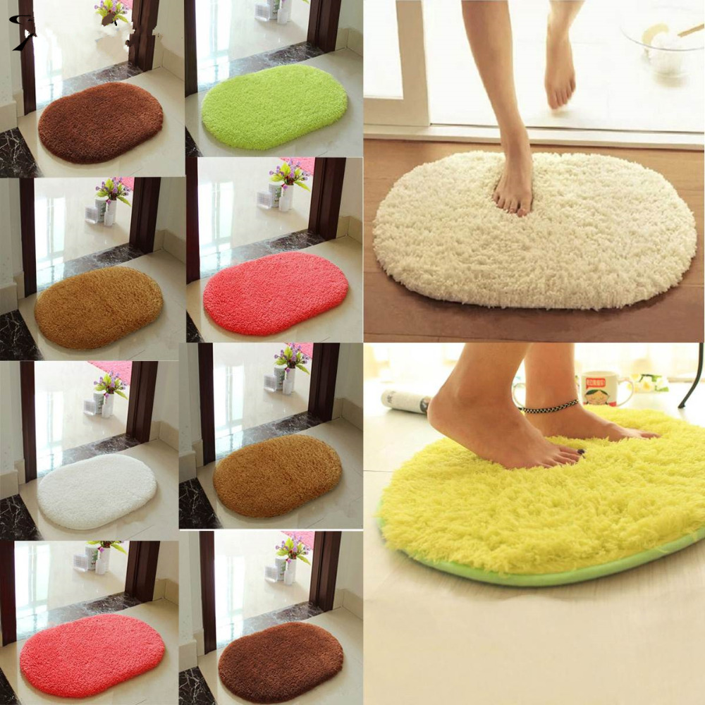 new absorbent soft bathroom carpet bath mats floor rug non slip dust doormat bathroom suppiles living