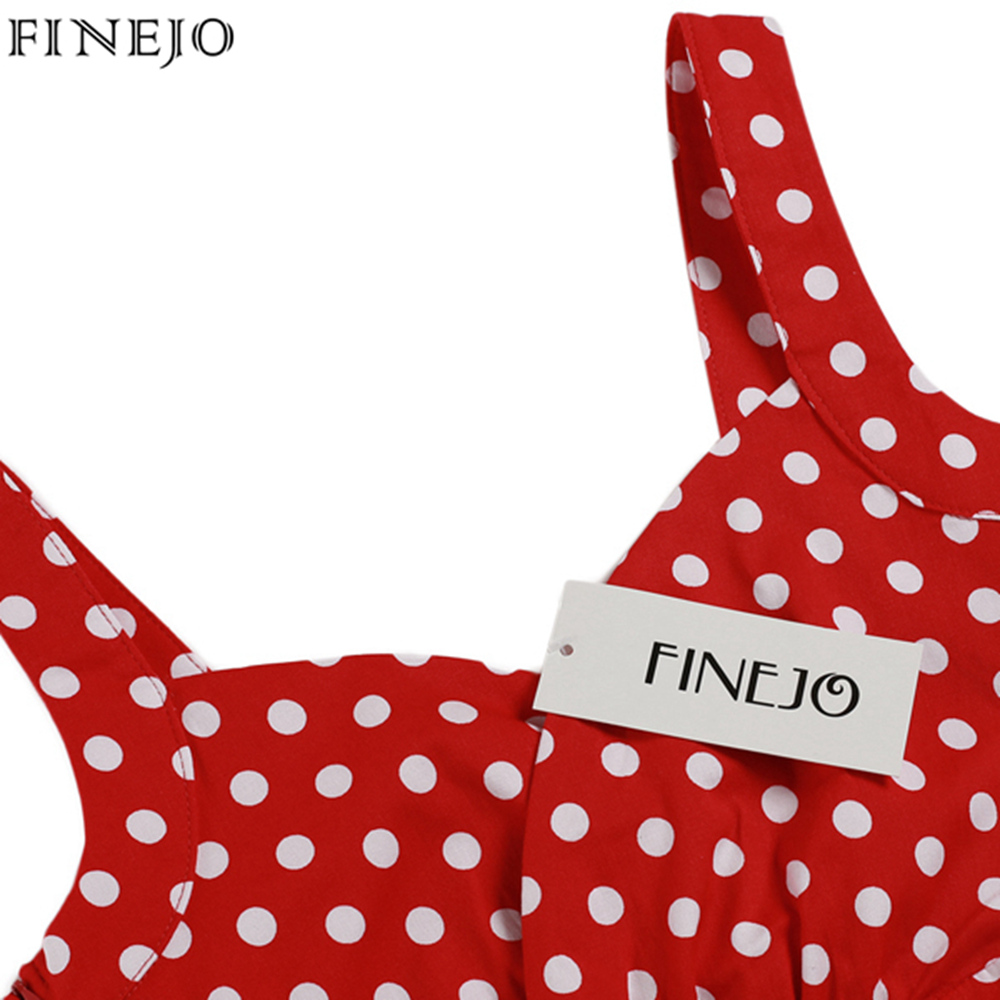 f393b790314b FINEJO Vintage Sexy Women Dress lady Elegant Deep V Neck Sleeveless red  Polka Dot Slim Bodycon party mini Dress plus size S XXL-in Dresses from  Women's ...