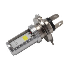 Motorcycle Cool H4 White Headlight Hi-Lo Beam Light Lamp Bulb 6500K Auxiliary Lights  Led