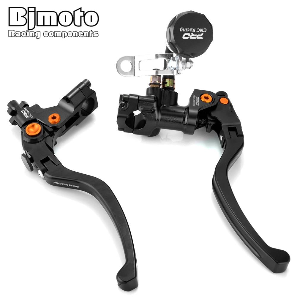"""7//8/"""" Motorbike Cylinder Clutch Lever Black Handlebar Hydraulic Brake For 500cc"""