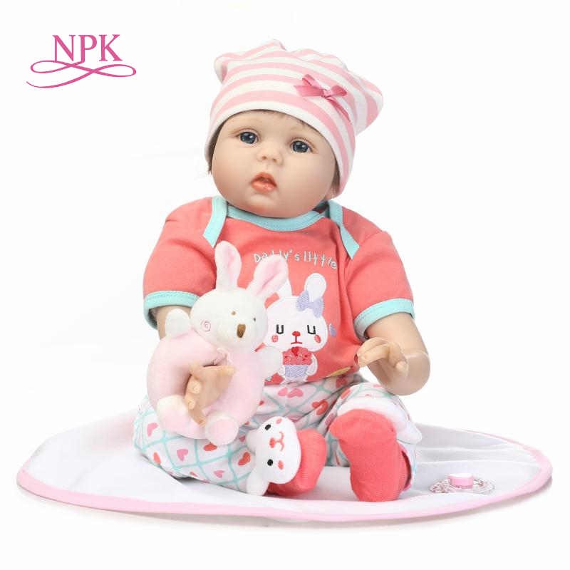 NPK  new simulation reborn baby doll soft vinyl silicone touch creative gift for children on Birthday and ChristmasNPK  new simulation reborn baby doll soft vinyl silicone touch creative gift for children on Birthday and Christmas