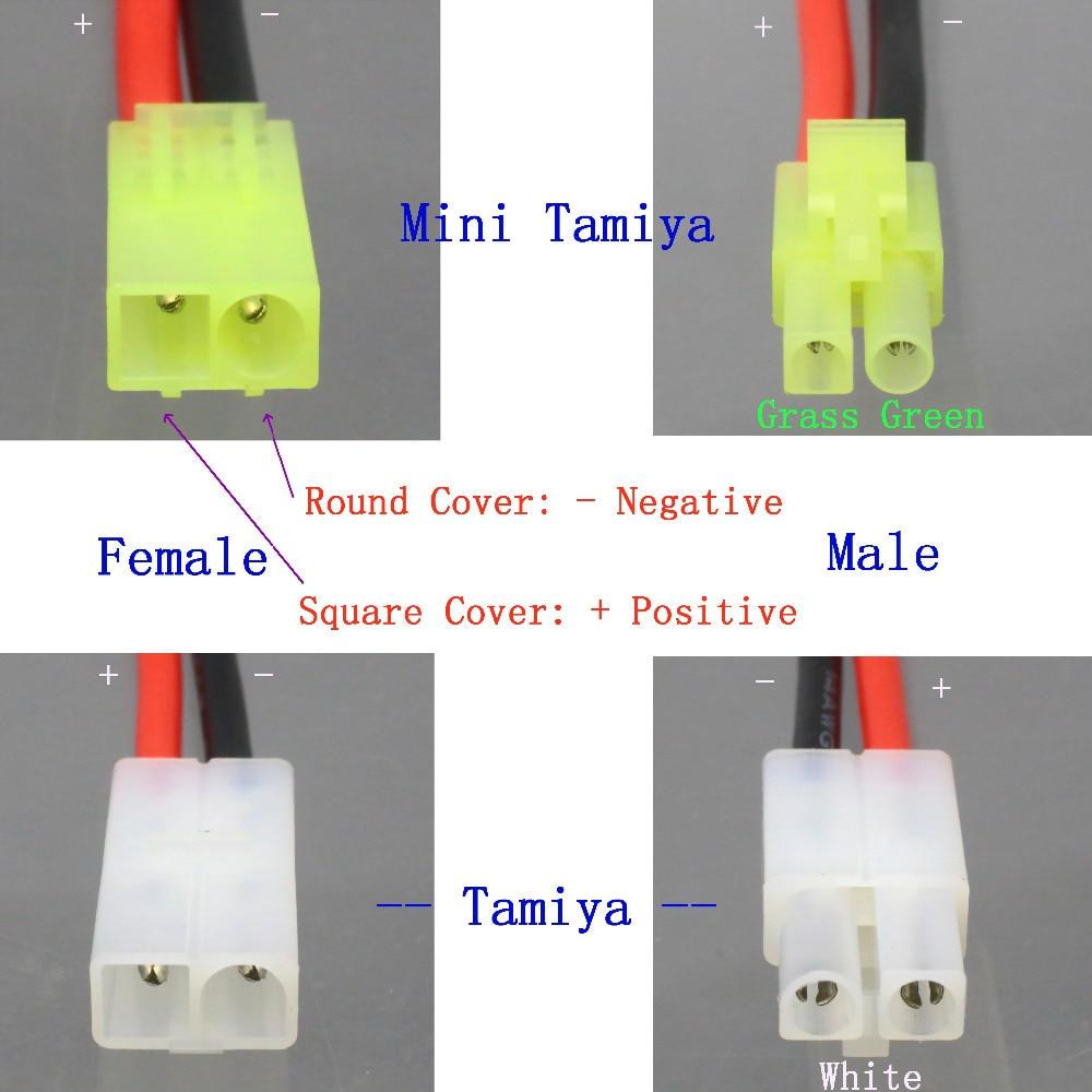 Female T-Plug to Male Mini Tamiya Harness