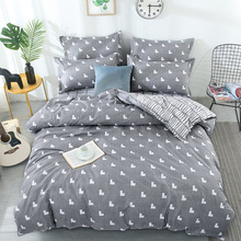 Heart Printed Beddingset Duvet Cover Bed Sheet Pillowcase Polyester Brief Full King Queen Twin Bedding