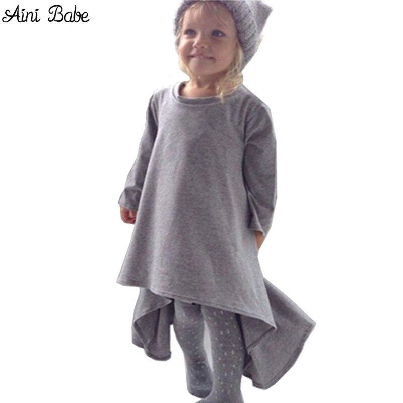 baby girl dress kids children black grey autumn&spring