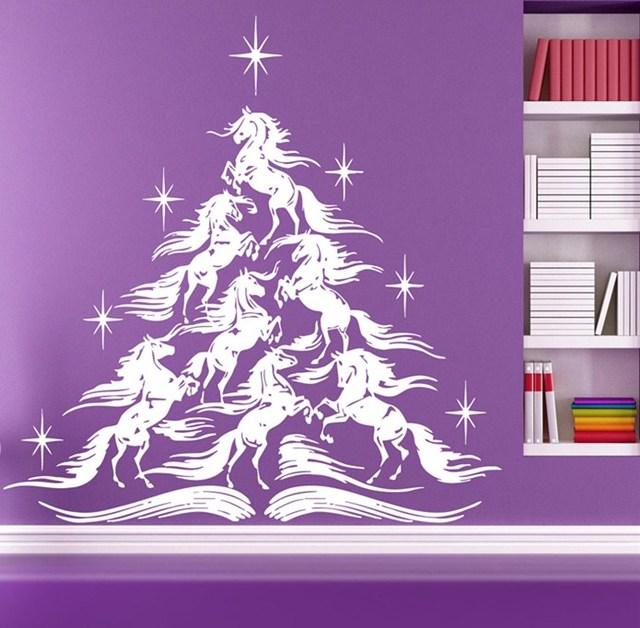 2018 Merry Christmas Tree Vinyl Wall Sticker Home Room Christmas Art