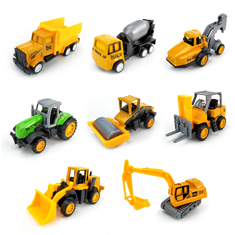 Hot Wheels Diecast Metal Cars Mini Return Engineering Vehicles Dump-car Dump Truck Model Alloy Pull Back Toy For Kids Toys