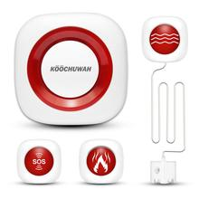 KOOCHUWAH Security Alarms for Home GSM Alarm System Sound Flash SMS Wireless Home Residential Alarm High Quality Alarm Kit SIM стоимость