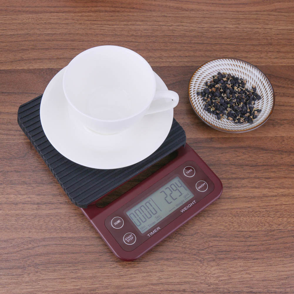3kg/0.1g 5kg/0.5g profession Home Coffee Digital Scale with Timer Electronic Jewelry Weighing Scale Kitchen Food Balance Scales
