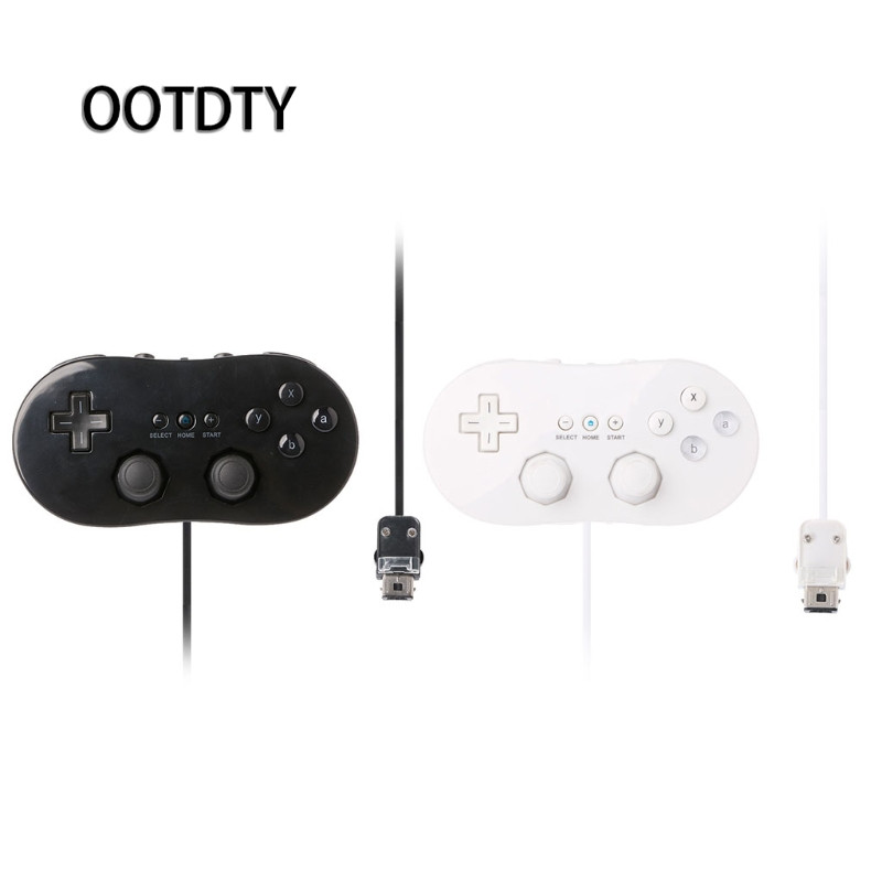 OOTDTY Game Accessories Classic First Gen Wired Game Controller Gaming Remote Pro Gamepad For Nintendo Wii