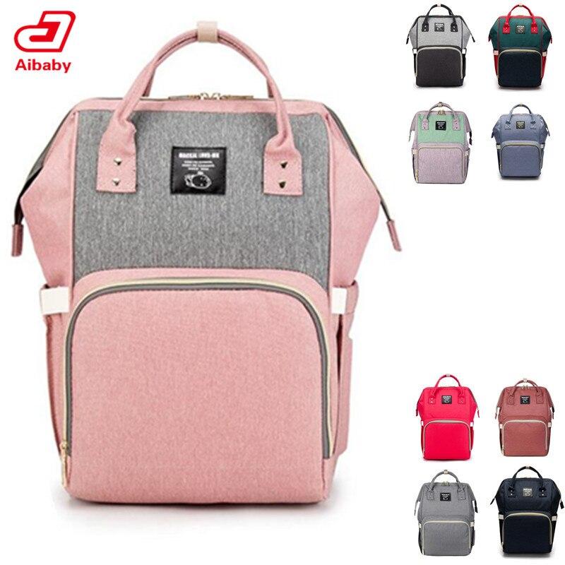 Windel Rucksack Tasche Mumie Große Kapazität Tasche Mom Baby Multi-funktion Wasserdichte Outdoor Reise Windel Taschen Für Baby Pflege