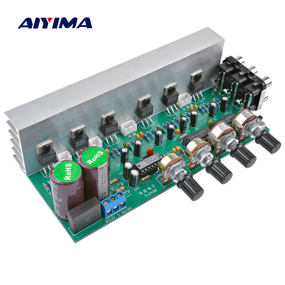 AIYIMA LM1875 5.1 Channel Audio Amplifier Board Subwoofer Amplifiers DIY Sound System Speaker Home Theater 25W*6 Super TDA2030