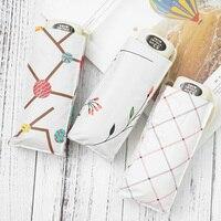 New Super Criativo luz Ramos de Flores Mini Guarda-chuva de Bolso Homens 5 vezes 229g de Viagem Guarda-chuva Chuva/Sol mulheres Crianças Paraguas
