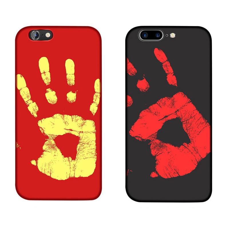 GOOJODOQ Accessories Store Shell Temperature,Sensing Change Color Phone Cover Case For iPhone 5 6 7 Plus PC chameleon Variations case Hard Matte Sensor