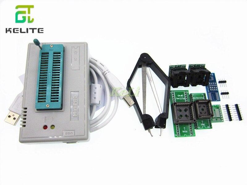 1KIT MiniPro TL866II Prgrammer USB Programmeur Universel/Bios Programme + 7 pièces Adaptateur SANS BOÎTE