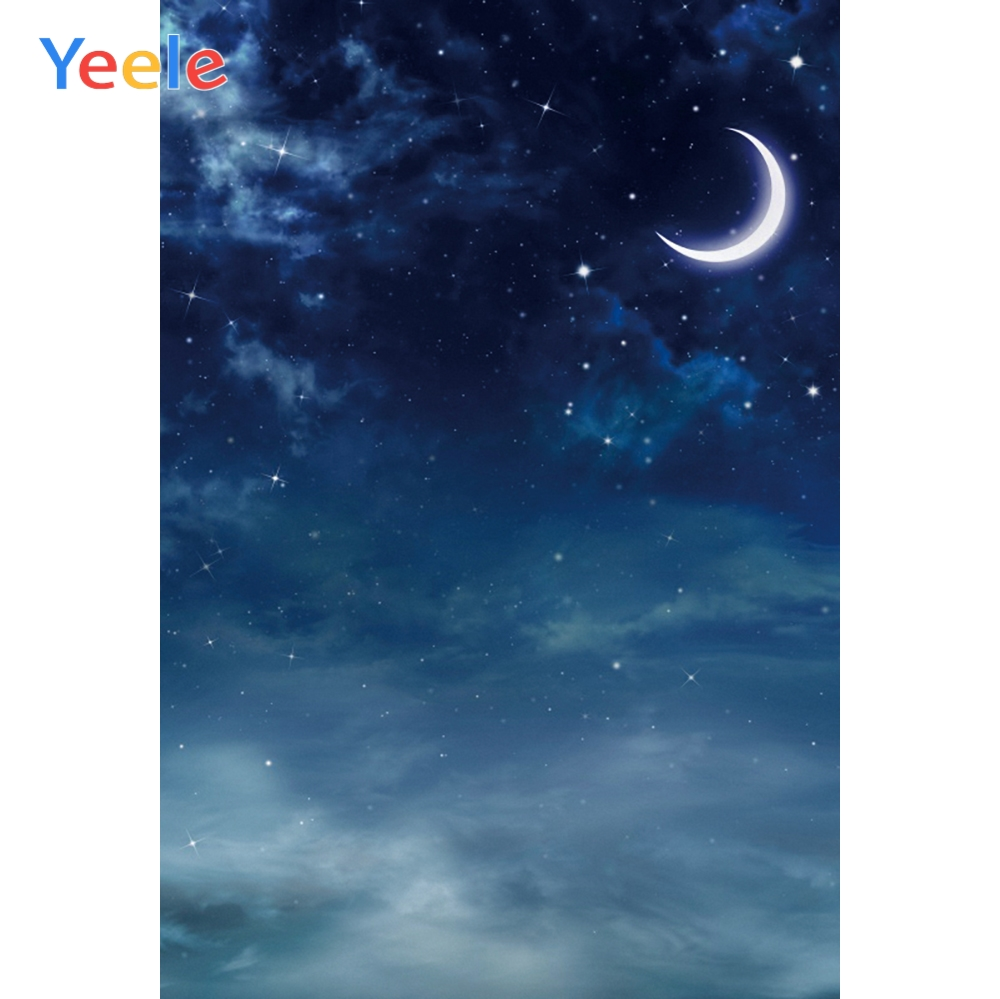 Yeele Night Sky New Moon Halloween Party Portrait Photography Backdrops Personalized Photographic Backgrounds For Photo Studio