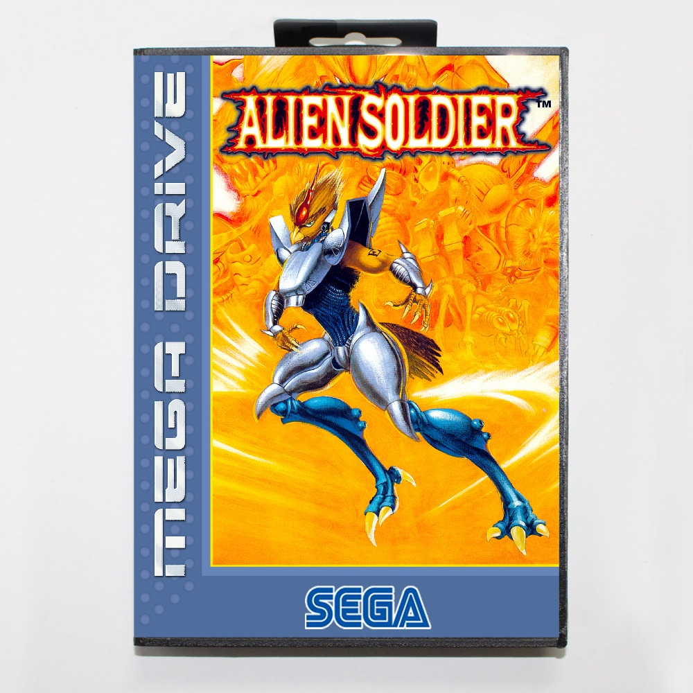 Alien soldier 16 bit SEGA MD Game Card With Retail Box For Sega Mega Drive For Genesis