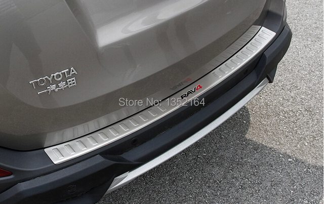 Auto rear bumper protector trim for Toyota RAV4 2014-2015,stainless steel,auto accessories