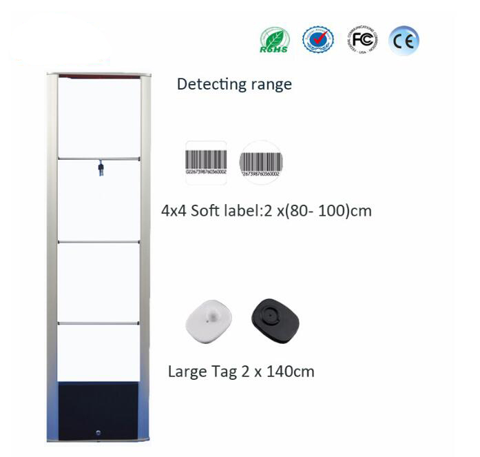 US $303 52 5% OFF|New Arrival! EAS RF Mono alarm system High sensitive  HR208 Eas Retail Shop Guard RF Antenna Clothes Security System 2pcs/lot-in  EAS