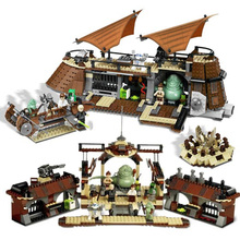 In stock 05090 Logoings Jabba's Sail Barge Set Bricks Comptiable ing Star Wars Model Building Blocks Boys Birthday Gift toys