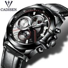 hot deal buy men's watches stopwatch date luminous hands genuine leather 30m waterproof clock man quartz watches men fashion steel watch
