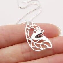 1 шт ожерелье в виде головы Сибирского Хаски с 3d вырезами кулон