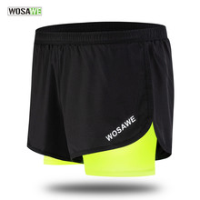 Quick Dry Summer Cycling Shorts Mens 2 in 1 Sports Short Fitness Training Exercise GYM Clothes Jogging Running