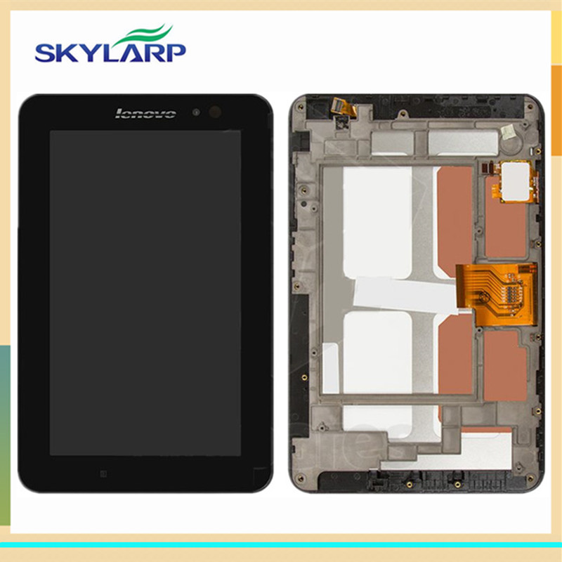 ФОТО Black LCD for Lenovo LePad A1-07 for Tablet PC LCD screen display panel FREE SHIPPING