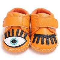 Dérapage-preuve semelle En Caoutchouc Bébé Chaussures Infantile doux Premiers Marcheurs Big eye Desgin Chaussons Bébé PU automne printemps de Bande Dessinée chaussures
