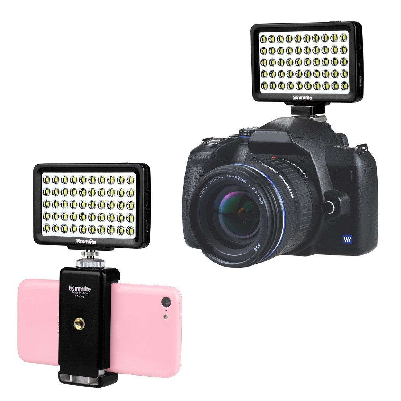 CM L50II Dimmable 50 LED Ultra High Power Panel Multi functional Portable Mini Video Light for Micro Sony Camera Smartphone